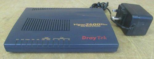 Draytek Vigor 2600 Plus 4 Port ADSL 54Mbps Router & Firewall AC Adapter Included